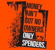 "Money Ain't Got No Owners - ""The Wire"" - Dark Kids Tee"
