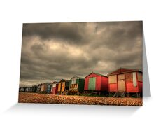 Whitstable Beach Huts 2 Greeting Card