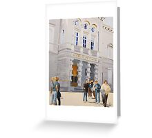 National Gallery of Ireland with Pedestrian Traffic Greeting Card