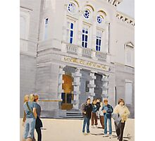 National Gallery of Ireland with Pedestrian Traffic Photographic Print