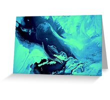 Ambient Blue Green Greeting Card