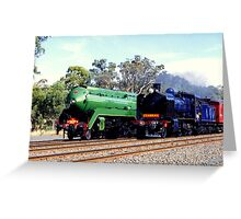 Steam Locomotives Greeting Card