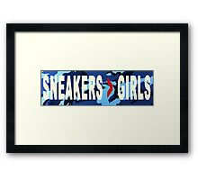 SNEAKERS ADDICT NAVY Framed Print