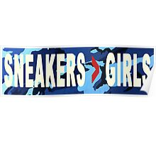 SNEAKERS ADDICT NAVY Poster