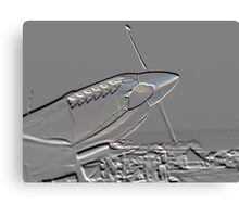 Spitfire Mk 1A aircraft embossed Canvas Print