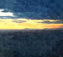 Laureana Cilento: landscape sea at sunset by Giuseppe Cocco
