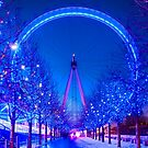 London Eye at Christmas in London, England by Yen Baet