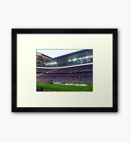 England Football Team - Wembley Stadium Framed Print
