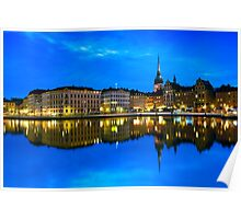 Reflections of Gamla Stan - Stockholm, Sweden Poster