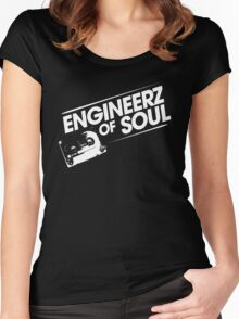 Offical Engineerz of Soul Shirt White Logo Women's Fitted Scoop T-Shirt