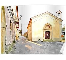 Laureana Cilento: view with chapel Poster