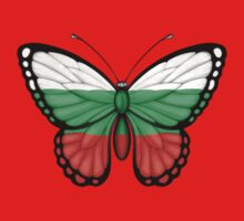 Bulgarian Flag Butterfly One Piece - Short Sleeve