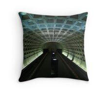 Metro station Throw Pillow