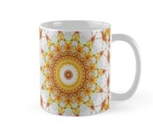 Gold Chrysanthemum Kaleidoscope Art 3 Mug
