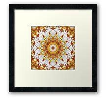 Gold Chrysanthemum Kaleidoscope Art 3 Framed Print