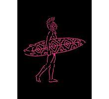Indian Surfer [sticker version] Photographic Print