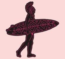 Indian Surfer [sticker version] One Piece - Long Sleeve