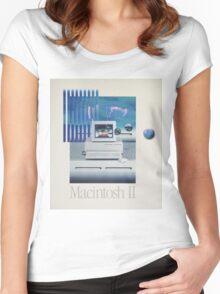 Macintosh II Vaporwave Women's Fitted Scoop T-Shirt