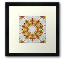 Gold Chrysanthemum Kaleidoscope Art 4 Framed Print