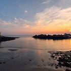 Sunset at Portpatrick by derekbeattie
