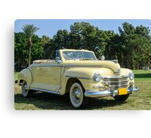 classic 40's Plymouth convertible  Canvas Print