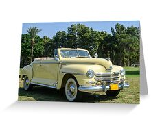 classic 40's Plymouth convertible  Greeting Card