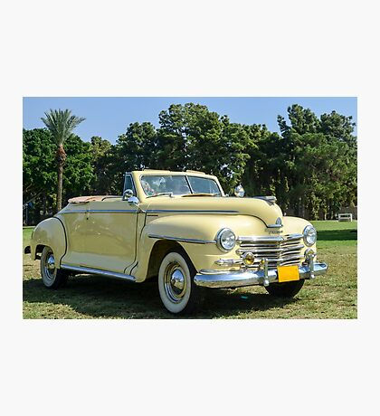 classic 40's Plymouth convertible  Photographic Print