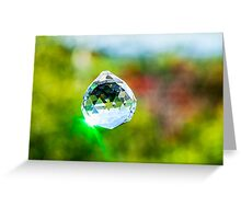 Jewel Crystal hanging outdoors  Greeting Card