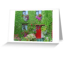 Flower House Greeting Card