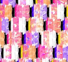 Girly Colorful Funky Watercolor Pattern by Blkstrawberry