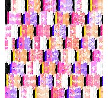 Girly Colorful Funky Watercolor Pattern Photographic Print