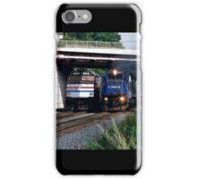 Railroad Locomotives Amtrak Conrail iPhone Case/Skin