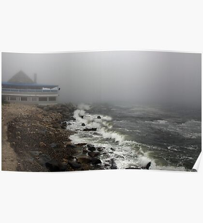 Storm at Narragansett Bay  Poster