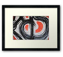 Red and black Framed Print
