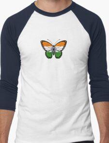 Indian Flag Butterfly Men's Baseball ¾ T-Shirt
