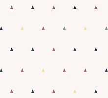 Triangles different colors on beige by msOctopus