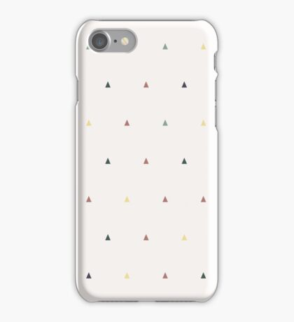 Triangles different colors on beige iPhone Case/Skin