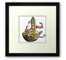 Cucumber salad  Framed Print