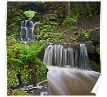 Waterfall at Smithills Hall Poster