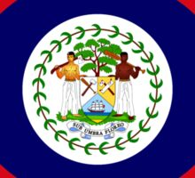 Belizean American Multinational Patriot Flag Series Sticker