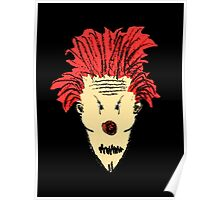 Evil Clown Hand Draw Illustration Poster