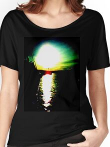 Boat at Sunset Women's Relaxed Fit T-Shirt