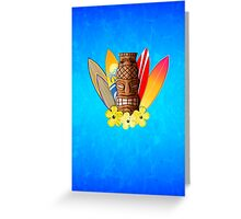 Surfboards And Tikis Greeting Card