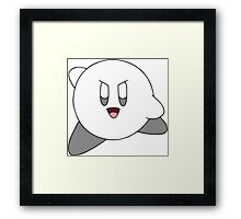 Chalk Kirby in Action Framed Print