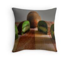 Kiwi still life Throw Pillow