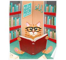 The Library Cat Poster