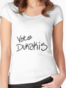 Vote Dukakis Women's Fitted Scoop T-Shirt