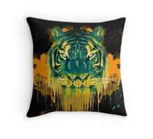 Twin Tigers Throw Pillow
