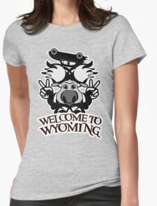 Tribal moose t-shirt Womens Fitted T-Shirt