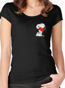 Snoopy lovely Women's Fitted Scoop T-Shirt